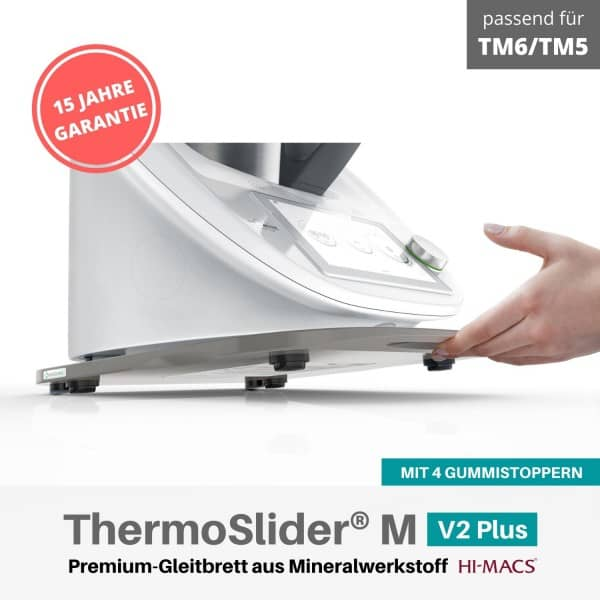 ThermoSlider® M | V2 Plus | Steel Grey | Premium-Gleitbrett für Thermomix TM6/TM5