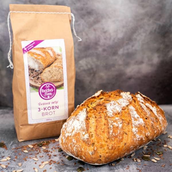 Brotbackmischung «3-Korn-Brot»   1000g