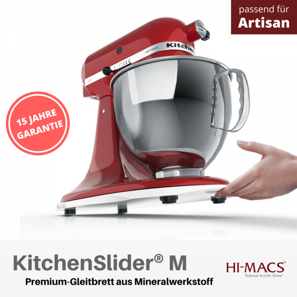 KitchenSlider® M | Alpine White | Gleitbrett für KitchenAid