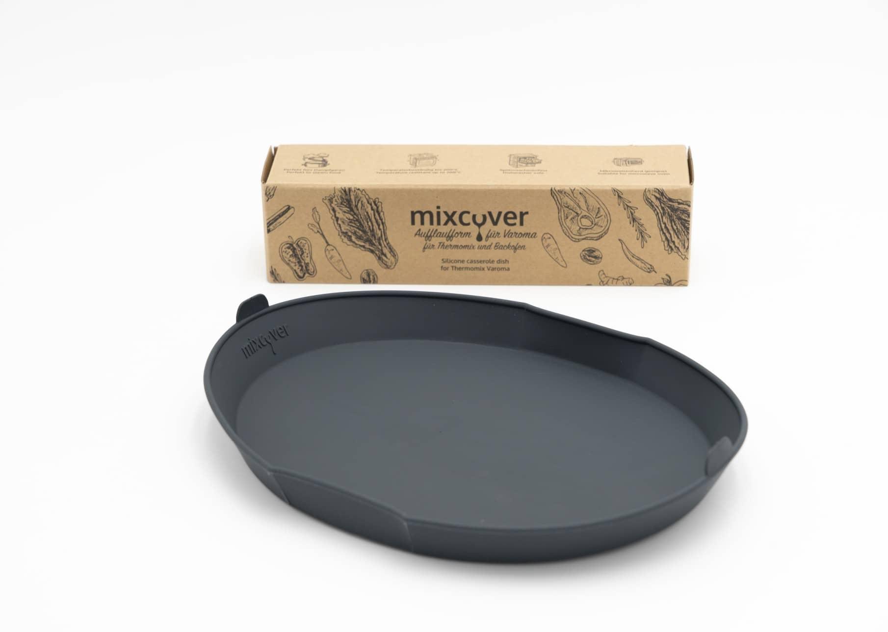 schwarz mixcover Dampfgarform Silikonform Auflaufform f/ür Thermomix Varoma Einlegeboden f/ür TM5 TM6 TM31 TM-Friend