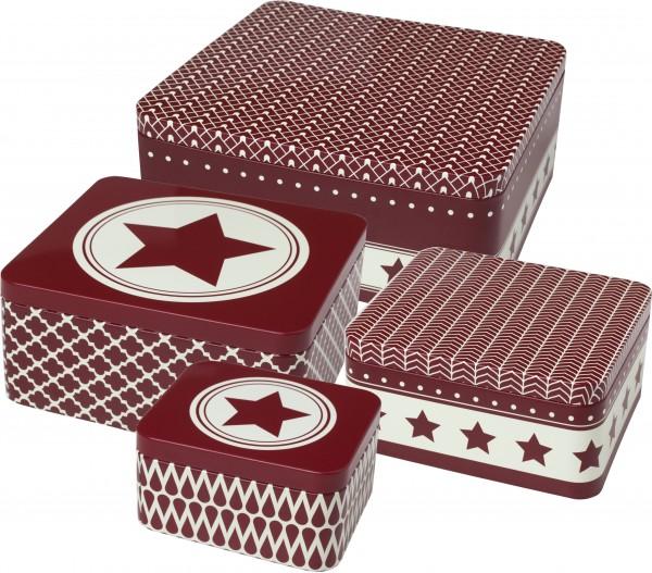 Gebäckdosen-Set «Stars» (4-tlg.)