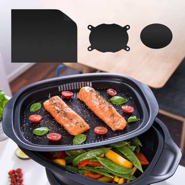 Dauerbackfolien-Set für Dampfgaraufsatz-Einlegeboden Monsieur Cuisine + Backofen